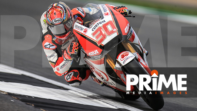 Takaaki Nakagami (30) of the LCR Honda IDEMITSU race team during the GoPro British MotoGP at Silverstone Circuit, Towcester, England on 26 August 2018. Photo by Chris Brown / PRiME Media Images