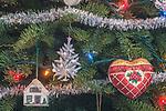 WA, Bellevue, Christmas Tree Ornaments