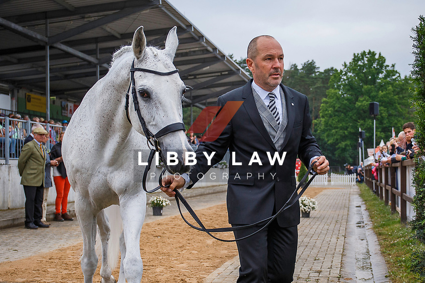 AUS-Warren Lamperd presents Silvia during the 1st Horse Inspection for the Longines CCI5*. The Longines Luhmuehlen International Horse Trials. Salzhausen, Germany. Wednesday 12 June. Copyright Photo: Libby Law Photography