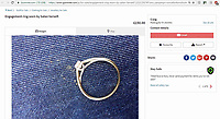 "COPY BY ANTONY STONE<br /> Pictured: The 1/4 carat gold ring, ""worn by Satan"" on sale for £150 by a man called Craig in Newport, Wales. <br /> Re: A man called Craig from Newport, south Wales, is advertising an engagement ring ""worn by Satan"" for sale on gumtree.<br /> The man goes on to describe how the ten year old relationship went sour and even states the size of the ring as ""fat""."