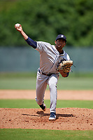 GCL Tigers West pitcher Isrrael De La Cruz (1) during a Gulf Coast League game against the GCL Phillies West on July 27, 2019 at the Carpenter Complex in Clearwater, Florida.  (Mike Janes/Four Seam Images)