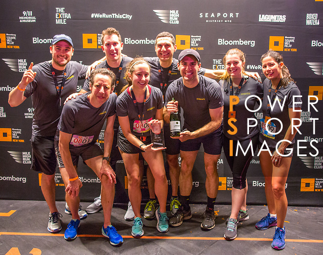 The Extra Mile 2018 - Winners of the mixed team pose after the New York race on 3 May 2018, in New York, USA. Photo by Fernando Alonso/ Power Sport Images