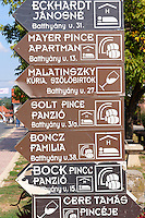Wine cellars sign. Villany  ( Villany  ) Hungary.