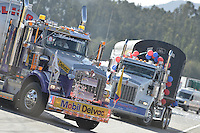 TOCANCIPÁ -COLOMBIA. 14-07-2013. 26° Gran Premio Nacional De Tractomulas realizado hoy en el autodromo de Tocancipá, Colombia. / 26th  National Trucks Grand Prix at Tocancipa racetrack today in Tocancipa, Colombia. Photo: VizzorImage / Str