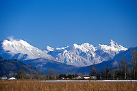 Fraser Valley, BC, British Columbia, Canada - Cascade Mountains, Slesse Mountain, near Chilliwack, Winter
