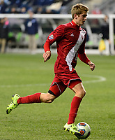 Chester, PA - Friday December 08, 2017: Justin Rennicks The Indiana Hoosiers defeated the North Carolina Tar Heels 1-0 during an NCAA Men's College Cup semifinal soccer match at Talen Energy Stadium.
