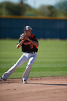 Edward Walden (17) of Minarets High School in Coarsegold, California during the Baseball Factory All-America Pre-Season Tournament, powered by Under Armour, on January 13, 2018 at Sloan Park Complex in Mesa, Arizona.  (Mike Janes/Four Seam Images)