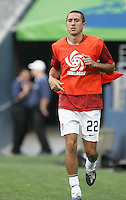 Davy Arnaud warms up and prepares to sub in. USA defeated Grenada 4-0 during the First Round of the 2009 CONCACAF Gold Cup at Qwest Field in Seattle, Washington on July 4, 2009.