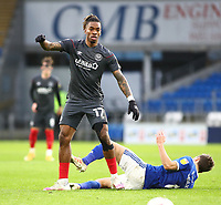 26th December 2020; Cardiff City Stadium, Cardiff, Glamorgan, Wales; English Football League Championship Football, Cardiff City versus Brentford; Ivan Toney of Brentford fouls Will Vaulks of Cardiff City