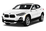 2019 BMW X2 Standard 5 Door SUV angular front stock photos of front three quarter view