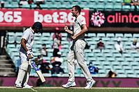 10th January 2021; Sydney Cricket Ground, Sydney, New South Wales, Australia; International Test Cricket, Third Test Day Four, Australia versus India; Josh Hazlewood of Australia celebrates but the wicket is overturned by the third umpire
