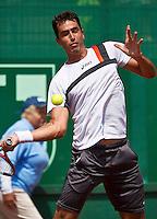 11-07-13, Netherlands, Scheveningen,  Mets, Tennis, Sport1 Open, day four,Leonardo Kirche (BRA)<br /> <br /> <br /> Photo: Henk Koster