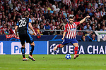 Atletico de Madrid's Koke Resurreccion and Club Brugge's Mats Rits during UEFA Champions League match between Atletico de Madrid and Club Brugge at Wanda Metropolitano Stadium in Madrid, Spain. October 03, 2018. (ALTERPHOTOS/A. Perez Meca)