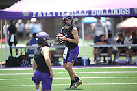 Multiple High School teams from around the Northwest Arkansas area competed Wednesday, July 14 , 2021 in the Southwest Elite 7on7 tournament at Harmon Stadium at Fayetteville High School. Check out nwaonline.com/210716Daily/ and nwadg.com/photos for a photo gallery.<br /> (NWA Democrat-Gazette/David Gottschalk)<br /> <br /> nwasptsouzanoahgoodshield20210716 and nwasptsouzastevenhogan20210716