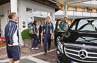 Austria, Kitzbuhel, Juli 14, 2015, Tennis, Davis Cup, Training Dutch team ready to go to practise<br /> Photo: Tennisimages/Henk Koster