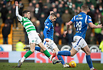 St Johnstone v Celtic…..01.03.20   McDiarmid Park   Scottish Cup Quarter Final<br />David Wotherspoon is tackled by Ryan Christie<br />Picture by Graeme Hart.<br />Copyright Perthshire Picture Agency<br />Tel: 01738 623350  Mobile: 07990 594431