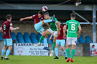 James McCarthy of Cobh Ramblers with Jack Walsh of Cork City.<br /> <br /> Cobh Ramblers v Cork City, SSE Airtricity League Division 1, 28/5/21, St. Colman's Park, Cobh.<br /> <br /> Copyright Steve Alfred 2021.