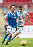St Johnstone v Hartlepool…22.07.17… McDiarmid Park… Pre-Season Friendly<br />Stefan Scougall tracked by Kenton Richardson<br />Picture by Graeme Hart.<br />Copyright Perthshire Picture Agency<br />Tel: 01738 623350  Mobile: 07990 594431