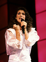 Montreal (Qc) CANADA - File Photo -Circa 1987 - Celine Dion at Jean Lapointe Telethon.<br /> <br /> <br /> -Photo (c)  Images Distribution