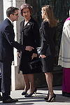 Spain Queen Sofia and Spain Princess Letizia attend the 11M March 11, 2004 terrorist attempt remember mass at Almudena Cathedral in Madrid, Spain. March 11, 2014. (ALTERPHOTOS/Victor Blanco)