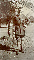 BNPS.co.uk (01202) 558833. <br /> Pic: Fellows/BNPS<br /> <br /> Pictured: Captain Walter Cornock. <br /> A stoic letter from a British World War One officer saying he would rather 'die a man's death than feel I had failed' has come to light 104 years on.<br /> <br /> Captain Walter Cornock, of the 12th Battalion, Gloucestershire Regiment, distinguished himself during the Third Battle of Ypres in 1917 and the 1918 German Spring Offensive.<br /> <br /> The correspondence to his father, also named Walter, reveals how he was driven by an enormous sense of duty and was prepared to sacrifice his life for his country.<br /> <br /> The 25 year old, from Gloucester, said this was preferable to taking 'cowardly advantage' of a situation and surviving, adding that people are 'unnecessarily afraid of death'.