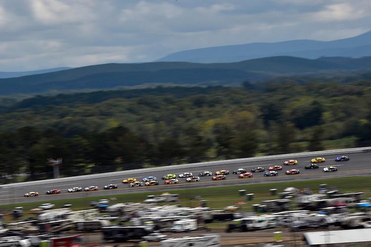 #18: Kyle Busch, Joe Gibbs Racing, Toyota Camry M&M's and #9: Chase Elliott, Hendrick Motorsports, Chevrolet Camaro Adrenaline Shoc