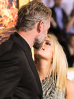 LOS ANGELES, CA, USA - NOVEMBER 17: Eric Johnson, Jessica Simpson arrive at the Los Angeles Premiere Of Lionsgate's 'The Hunger Games: Mockingjay, Part 1' held at Nokia Theatre L.A. Live on November 17, 2014 in Los Angeles, California, United States. (Photo by Rudy Torres/Celebrity Monitor)