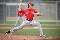 Boston Red Sox pitcher Shaun Anderson (58) during a minor league Spring Training intrasquad game on March 31, 2017 at JetBlue Park in Fort Myers, Florida. (Mike Janes/Four Seam Images)