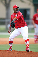 April 14, 2009:  Pitcher Jose Rada of the St. Louis Cardinals extended spring training team during a game at Roger Dean Stadium Training Complex in Jupiter, FL.  Photo by:  Mike Janes/Four Seam Images