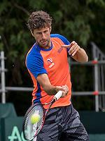 Moscow, Russia, 14 th July, 2016, Tennis,  Davis Cup Russia-Netherlands, Dutch team practise, Robin Haase (NED)<br /> Photo: Henk Koster/tennisimages.com