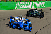 Verizon IndyCar Series<br /> Iowa Corn 300<br /> Iowa Speedway, Newton, IA USA<br /> Sunday 9 July 2017<br /> Scott Dixon, Chip Ganassi Racing Teams Honda, Josef Newgarden, Team Penske Chevrolet<br /> World Copyright: F. Peirce Williams<br /> LAT Images