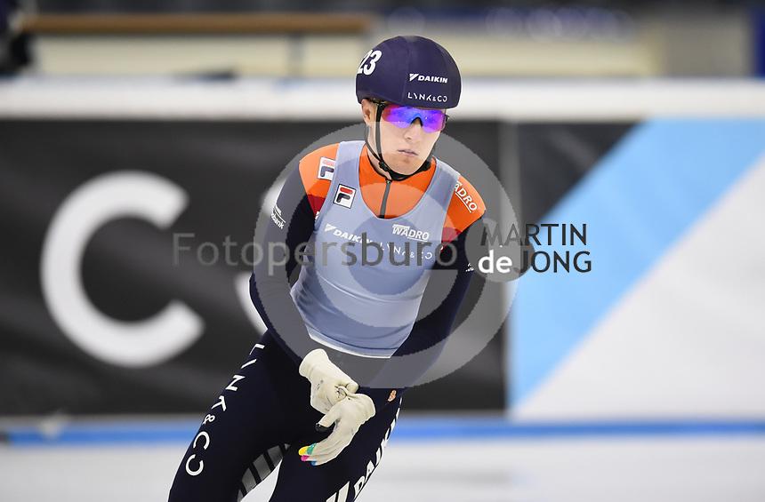 SCHAATSEN: HEERENVEEN: 12-12-2020, IJsstadion Thialf, Shorttrack, NK Shorttrack Afstanden, Sven Roes, ©foto Martin de Jong