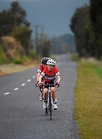 Scots College year 7 and 8 boys in action during the NZ Schools Road Cycling championship day one time trials at Koputaroa Road, Levin, New Zealand on Saturday, 27 September 2014. Photo: Dave Lintott / lintottphoto.co.nz