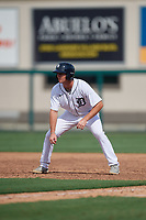 Detroit Tigers Colt Keith (4) leads off during a Florida Instructional League game against the Pittsburgh Pirates on October 16, 2020 at Joker Marchant Stadium in Lakeland, Florida.  (Mike Janes/Four Seam Images)