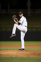 Salt River Rafters relief pitcher Kyle Keller (40), of the Miami Marlins organization, delivers a pitch during an Arizona Fall League game against the Scottsdale Scorpions at Salt River Fields at Talking Stick on October 11, 2018 in Scottsdale, Arizona. Salt River defeated Scottsdale 7-6. (Zachary Lucy/Four Seam Images)