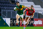 Jack Sherwood, Kerry in action against Killian O' Hanlon, Cork, during the Munster GAA Football Senior Championship Semi-Final match between Cork and Kerry at Páirc Uí Chaoimh in Cork.