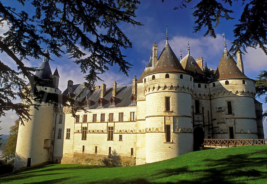 Loire Valley, castle, France, Chaumont, Loire Castle Region, Europe, Chateau de Chaumont a 15th century castle in the Loire Valley Region.