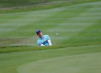 3rd July 2021; Mount Juliet Golf Club, Kilkenny, Ireland; Dubai Duty Free Irish Open Golf, Day Three; Matthew Jordan of England chipping from the 5th green side bunker
