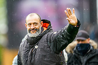 23rd May 2021; Molineux Stadium, Wolverhampton, West Midlands, England; English Premier League Football, Wolverhampton Wanderers versus Manchester United; Nuno Manager of Wolverhampton Wanderers says goodbye to the fans