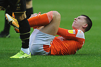Blackpool's Ben Woodburn reacts to being fouled<br /> <br /> Photographer Kevin Barnes/CameraSport<br /> <br /> The EFL Sky Bet League One - Blackpool v Milton Keynes Dons - Saturday 24 October 2020 - Bloomfield Road - Blackpool<br /> <br /> World Copyright © 2020 CameraSport. All rights reserved. 43 Linden Ave. Countesthorpe. Leicester. England. LE8 5PG - Tel: +44 (0) 116 277 4147 - admin@camerasport.com - www.camerasport.com