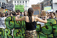 "- Milano, 24 Maggio 2019, manifestazione di giovani e studenti ""Global Strike for Future"", in protesta contro i cambiamenti climatici ed il riscaldamento globale<br />