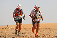4th October 2021; Tisserdimine to Kourci Dial Zaid;  Marathon des Sables, stage 2 of  a six-day, 251 km ultramarathon, which is approximately the distance of six regular marathons. The longest single stage is 91 km long. This multiday race is held every year in southern Morocco, in the Sahara Desert. Abdelkader El Mouaziz (MOR) out in front