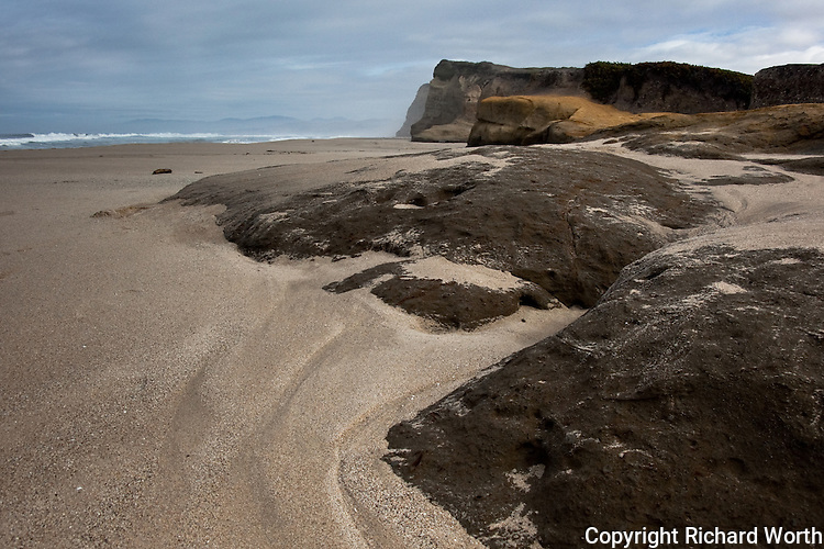Erosion carved these 'stepping stones' at Pomponio State Beach, California, and the sculpting continues.