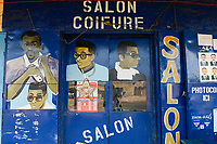 CHAD, Guéra, Mongo, Salon Coiffure , hairdresser barber salon / TSCHAD , Guéra, Mongo, Friseur Salon