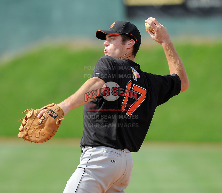 August 1, 2009: Infielder Mike Flacco (17) of the Bluefield Orioles, rookie Appalachian League affiliate of the Baltimore Orioles in a game at Howard Johnson Field in Johnson City, Tenn. Photo by: Tom Priddy/Four Seam Images
