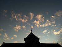 Peak of new St. Paul's Catholic Church.