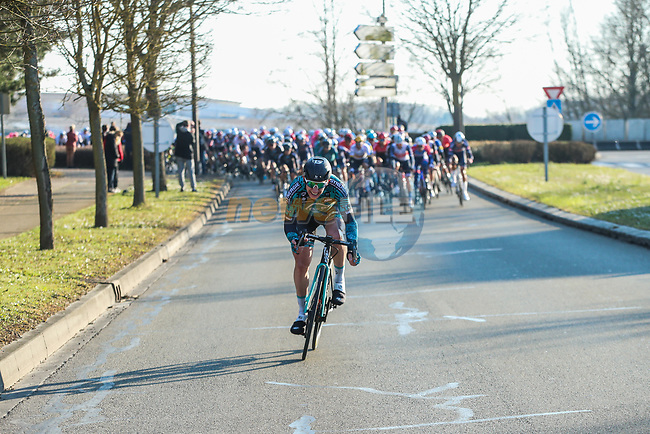 B&B Hotels/KTM rider tries to break away from the peloton near the end of Stage 1 of Paris-Nice 2021, running 166km from Saint-Cyr-l'École to Saint-Cyr-l'École, France. 7th March 2021.<br /> Picture: ASO/Fabien Boukla | Cyclefile<br /> All photos usage must carry mandatory copyright credit (© Cyclefile | ASO/Fabien Boukla)