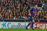 Sergio Busquets Burgos of FC Barcelona runs with the ball during the La Liga 2017-18 match between Valencia CF and FC Barcelona at Estadio de Mestalla on November 26 2017 in Valencia, Spain. Photo by Maria Jose Segovia Carmona / Power Sport Images