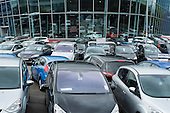 Used cars for sale at a Dagenham Motors showroom in Burnt Oak, London.