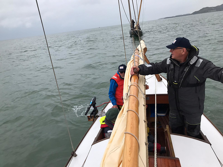 The Twenty Ones underway and heading back to Dun Laoghaire Harbour